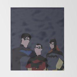 Batfamily Minimalism Throw Blanket
