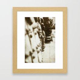 Peering Warrior Framed Art Print