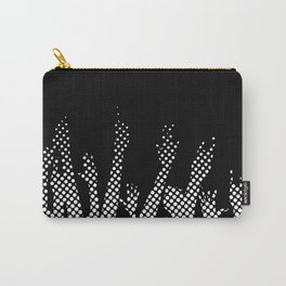 Halftone Raised Hands Carry-All Pouch
