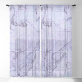 Marbly Lavender Sheer Curtain