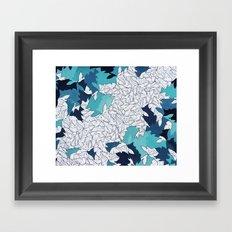 a passing cloud Framed Art Print