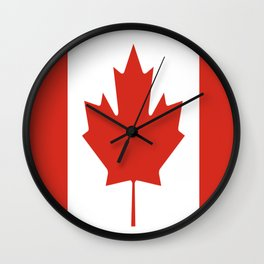 red maple leaf flag of Canada Wall Clock