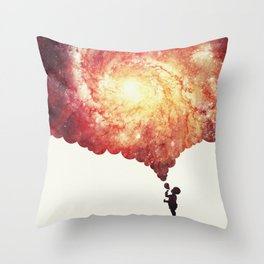 The universe in a soap-bubble! (Awesome Space / Nebula / Galaxy Negative Space Artwork) Throw Pillow