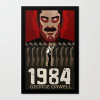 1984 Canvas Prints featuring 1984 by A.L.  Cook