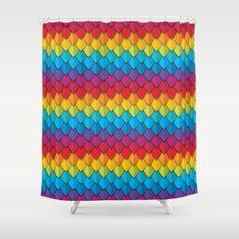 Rainbow Feather 2 Shower Curtain