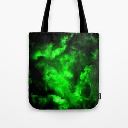 Envy - Abstract In Black And Neon Green Tote Bag