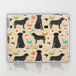 black lab sushi cute funny dog breed pet pattern labrador retriever Laptop & iPad Skin