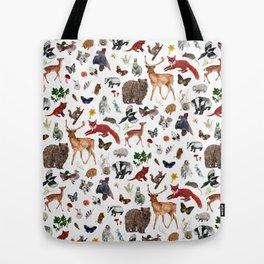 Wild Woodland Animals Tote Bag