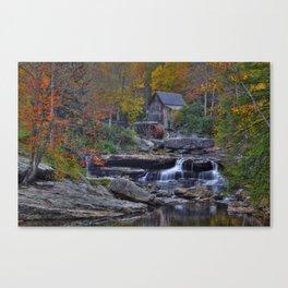 Glade Creek Grist Mill in Autumn Canvas Print