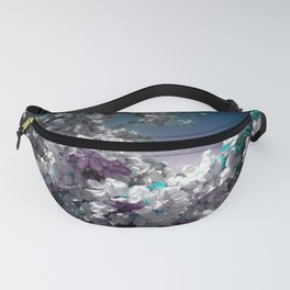 Flowers Purple & Teal Fanny Pack