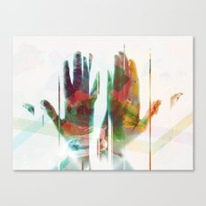painter's hands Canvas Print