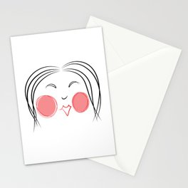 Otafuku Mask: Goddess of Mirth Stationery Cards
