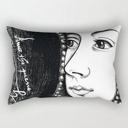 Queen Anne Boleyn Portrait  Rectangular Pillow