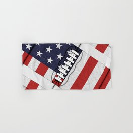 4th of July American Football Fanatic Hand & Bath Towel