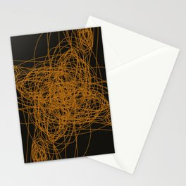 Wint. ethnic M gold on black Stationery Cards
