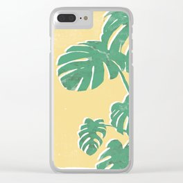 Jungle leaves Clear iPhone Case