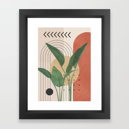 Nature Geometry V Framed Art Print