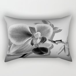 Orchid in Black and White A537 Rectangular Pillow
