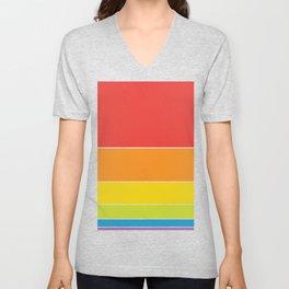 Pride: Rainbow Sunset Unisex V-Neck