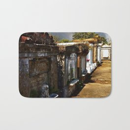 Lafayette Cemetery - Graves and Gray Sky Bath Mat