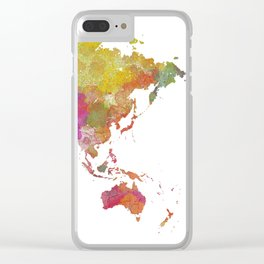 Map of the World - Watercolor 5 Clear iPhone Case
