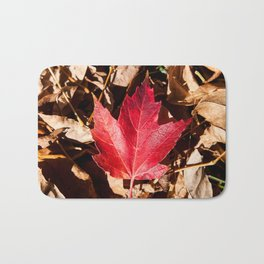 Maple Leaf Photography Print Bath Mat