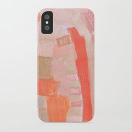 Peach and Feather iPhone Case