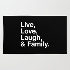 Live Love Laugh and Family Rug
