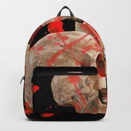 MACABRE BLOOD & SKULLS BLACK  ART Backpack