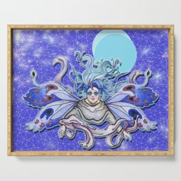 Women From the Blue Moon Eclipse Serving Tray