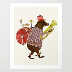 one bear band Art Print