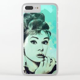 Holly Golightly Clear iPhone Case