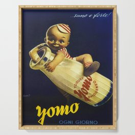 Vintage Yogurt Yomo Ogni Giorno Italy Wall Art Serving Tray
