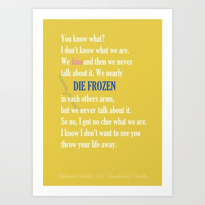 Castle (TV Show) Quotes   Richard Castle Art Print by neverfallapart ...