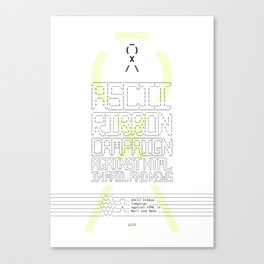 ASCII Ribbon Campaign against HTML in Mail and News – White Canvas Print