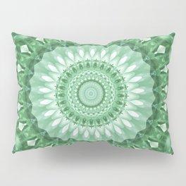 Emerald Green Mandala Pillow Sham