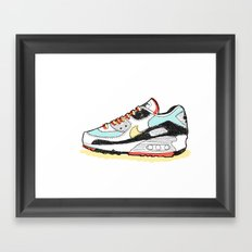 Airmax sneakers Framed Art Print