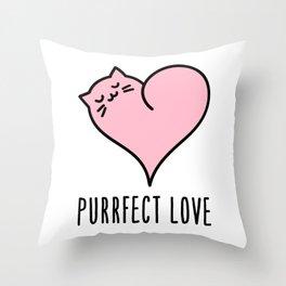 Cat heart Throw Pillow