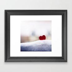 Love and Snow Framed Art Print