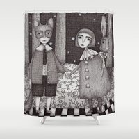 cooking Shower Curtains featuring Hansel and Gretel by Judith Clay