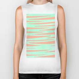 Sweet Life Soft Serve Peach Coral + Mint Meringue Biker Tank