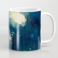 fireflies Mugs featuring Fireflies by Morgan Ofsharick - meoillustration