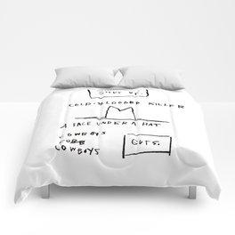 Basquiat Cowboy Comforters