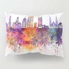 Pittsburgh V2 skyline in watercolor background Pillow Sham