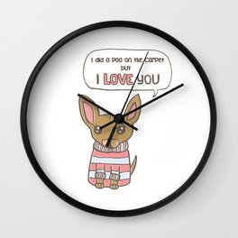 But I Love You! Wall Clock