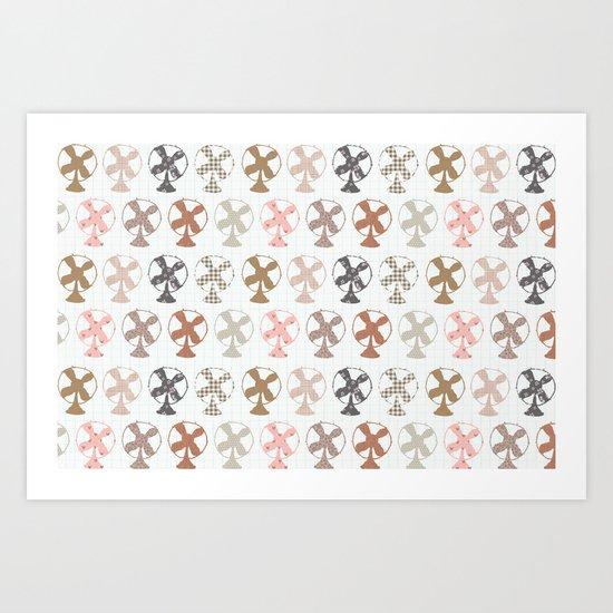 fans pattern Art Print