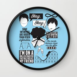 The Fault In Our Stars Collage Wall Clock