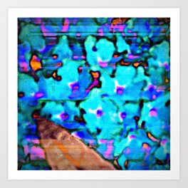 Blue Butterfly Bush  Art Print