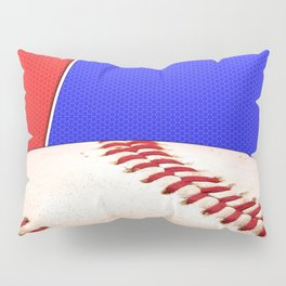 Baseball Sports on Blue and Red Pillow Sham
