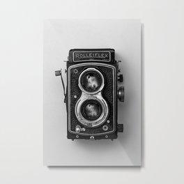 Rolliflex Camera Metal Print
